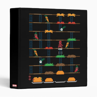 Retro Deadpool Taco Video Game 3 Ring Binder