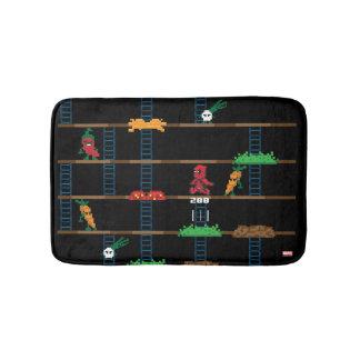 Retro Deadpool Taco Video Game Bathroom Mat