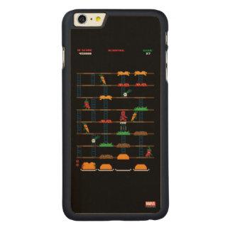 Retro Deadpool Taco Video Game Carved® Maple iPhone 6 Plus Case