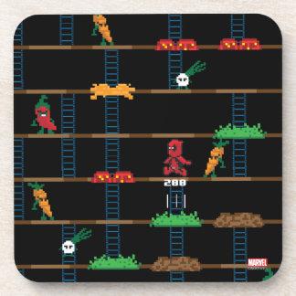 Retro Deadpool Taco Video Game Coaster