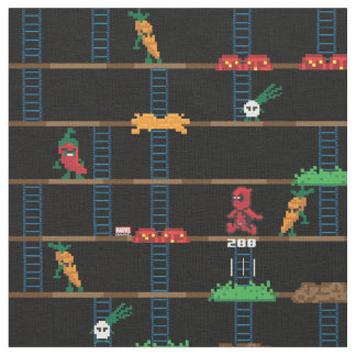 Retro Deadpool Taco Video Game Fabric