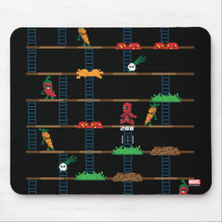 Retro Deadpool Taco Video Game Mouse Pad