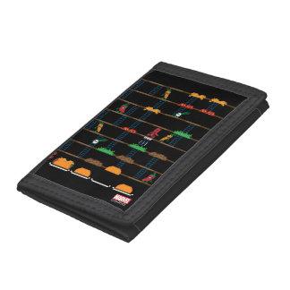 Retro Deadpool Taco Video Game Tri-fold Wallets