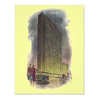 Retro Deco Style Moved Announcements Skyscraper