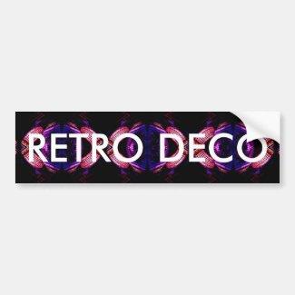 Retro Deco Urban Futuristic Design Bumper Sticker