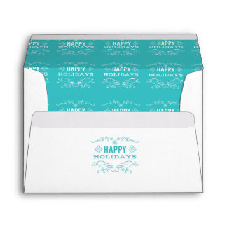 Retro Decorative Happy Holidays Envelope