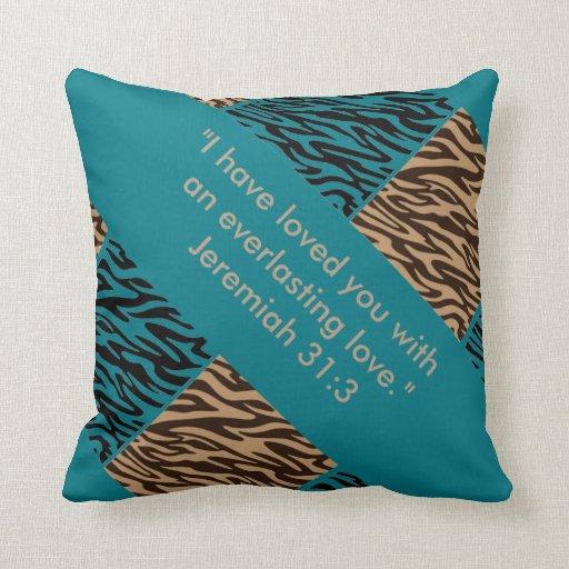 Retro Decorative Pillows : Retro Decorative Pillow.. Jeremiah 31:3 Throw Pillow Zazzle