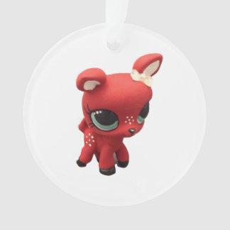 Retro Deer Christmas Ornament