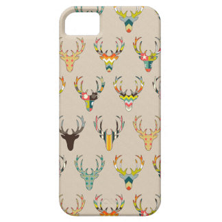 retro deer head on linen iPhone 5 cases