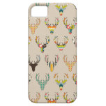 retro deer head on linen iPhone 5 covers