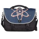 Retro del átomo apenado bolsas de ordenador