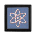 Retro del átomo apenado caja de regalo