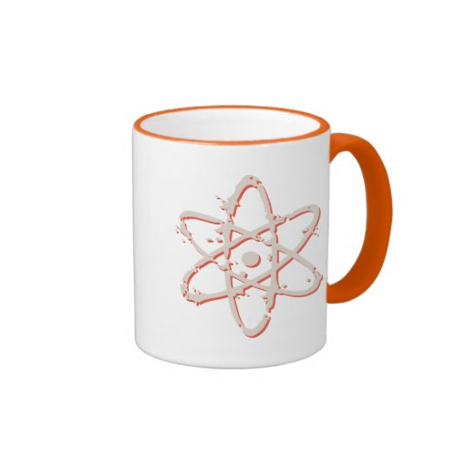 Retro del átomo apenado taza de dos colores