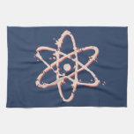 Retro del átomo apenado toalla