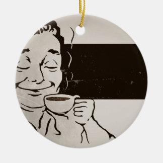 Retro Delicious Coffee Ad Ceramic Ornament