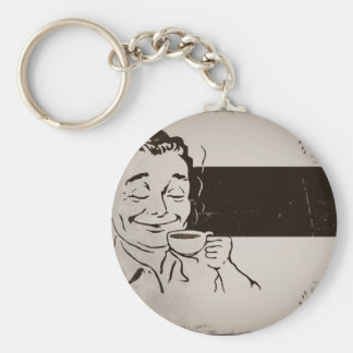 Retro Delicious Coffee Ad Keychain