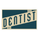 retro dentist Double-Sided standard business cards (Pack of 100)