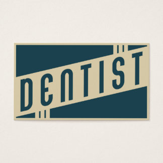 retro dentist business card
