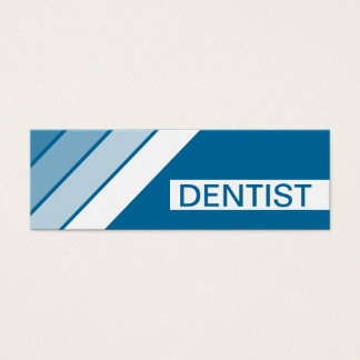 retro DENTIST Mini Business Card