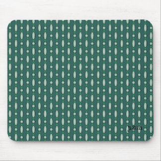 Retro Design Beaded Curtain Turquoise Mouse Pad