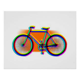 Retro Design Bike customized Poster