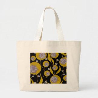 Retro Design Large Tote Bag