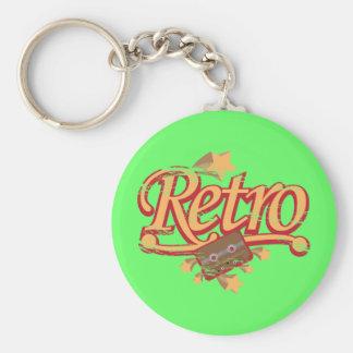 Retro Design Magnet, Keychain, Button - Cassette Basic Round Button Keychain