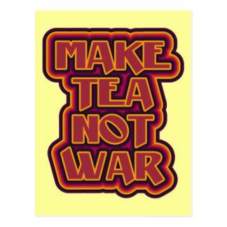 Retro design Make Tea Not War Postcard