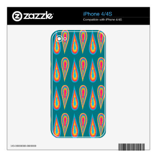 Retro Design on iPhone 4/4S  Skin Decal For iPhone 4
