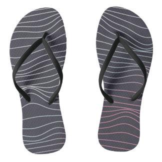 Retro design, wave lines  flip flops