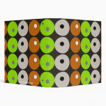 Retro Designer Dots & Circles Funky Pattern Vinyl Binders