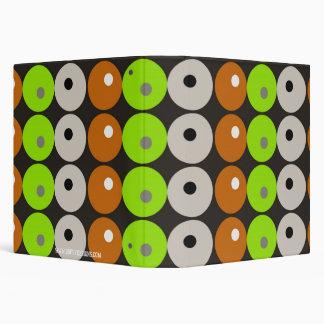Retro Designer Dots & Circles Funky Pattern 3 Ring Binders