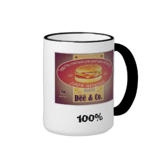 Retro Desing old fashion inspired in the 50 ' s Ringer Coffee Mug