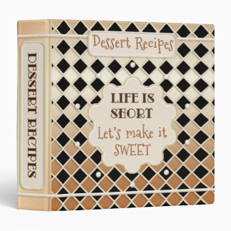 Retro Dessert Recipe Binder