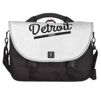 Retro Detroit Logo Laptop Commuter Bag