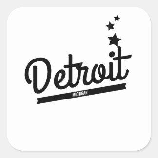 Retro Detroit Logo Sticker