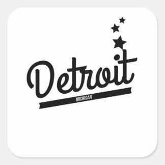 Retro Detroit Logo Stickers