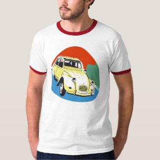 Retro Deux Chevaux the tin snail T-Shirt