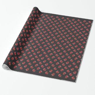 Retro Devil Head  Wrapping Paper
