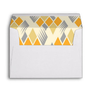 Retro diamond pattern 3 envelopes