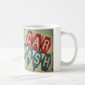 Retro Diamond Shaped Car Wash Sign Coffee Mug