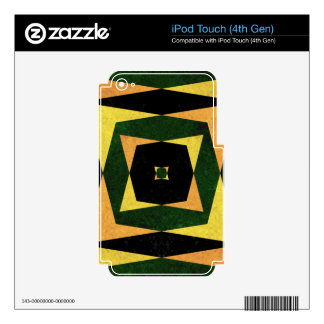 Retro diamond shapes pattern decal for iPod touch 4G