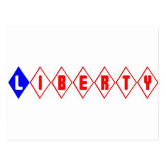 Retro Diamonds Liberty Postcard