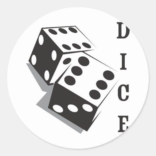 Retro Dice Classic Round Sticker