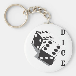 Retro Dice Keychain