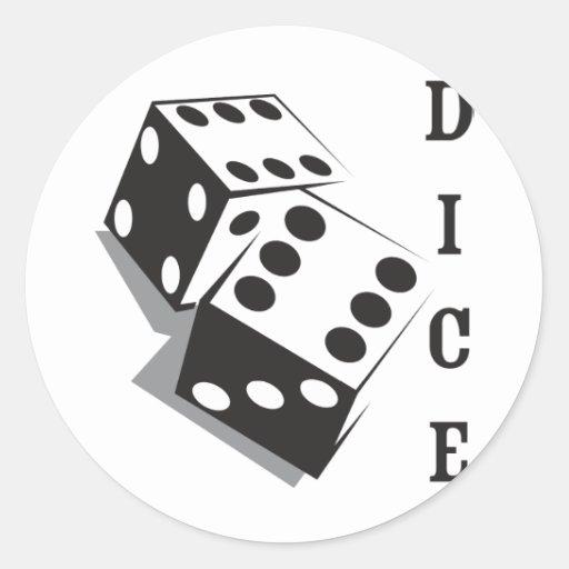 Retro Dice Round Sticker
