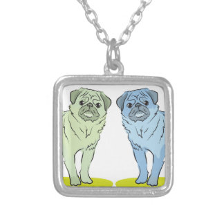 RETRO different coloured pug dogs Jewelry