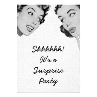 Retro diga al fiesta de sorpresa comunicados personalizados