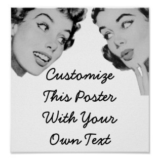 Retro diga póster