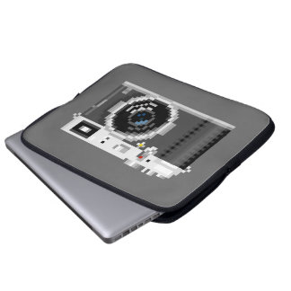 Retro Digital Camera Pixel Art Laptop Sleeve